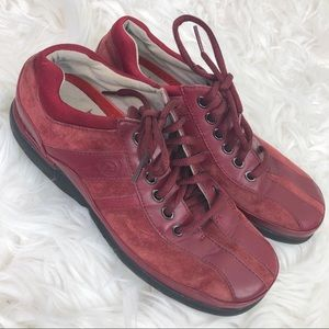 Rockport Women's Red Suede Leather Sneakers 7.5M